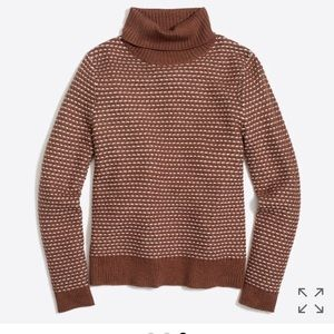 J. Crew textured turtleneck sweater